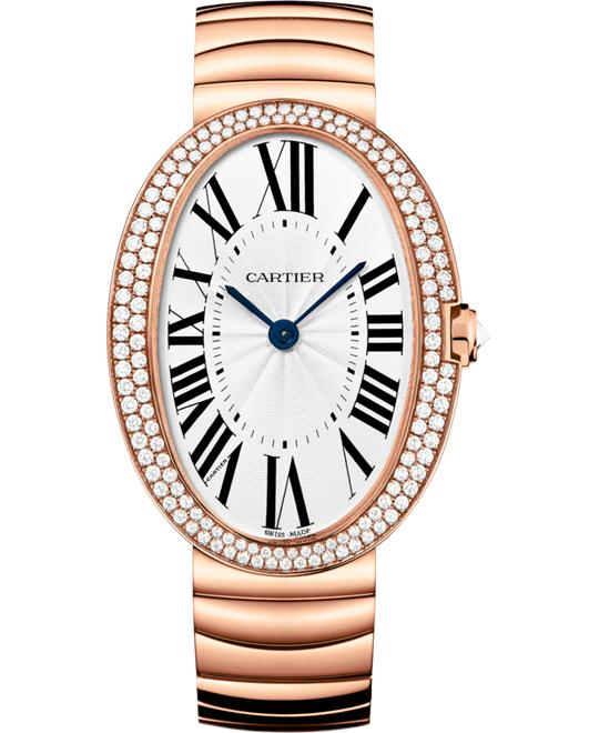 Cartier Baignoire WB520003 Pink Gold Diamonds Watch 34.7