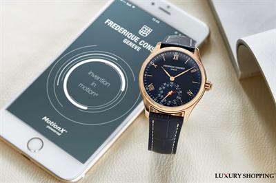 ĐỒNG HỒ NAM FREDERIQUE CONSTANT HOROLOGICAL SMARTWATCH XANH NAVY LỊCH LÃM