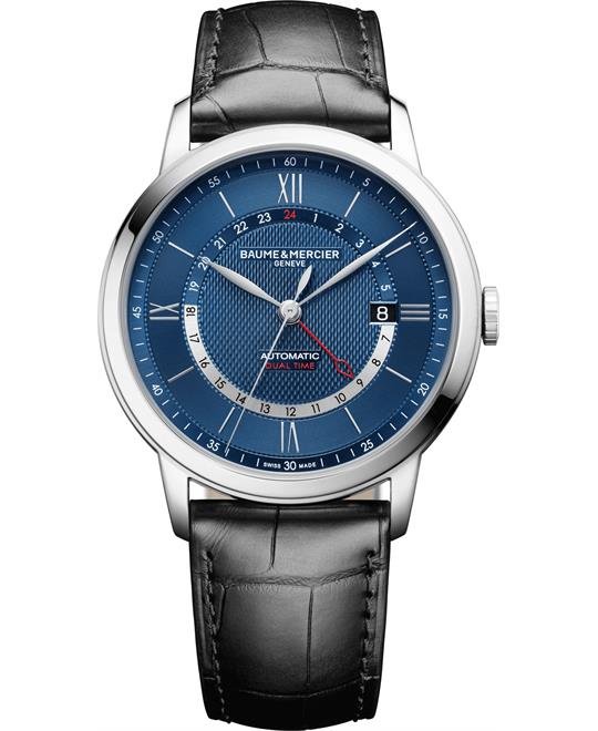 Baume & Mercier Classima 10482 Dual Time Watch 42mm