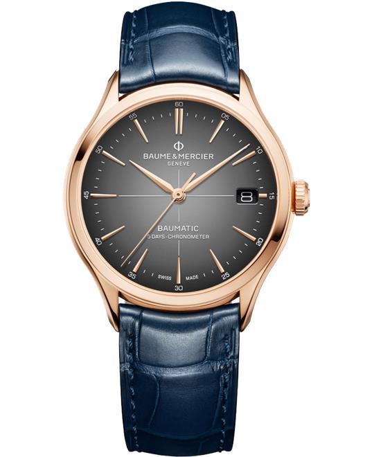đồng hồ nam aume % Mercier Clifton 10584 Baumatic 39mm