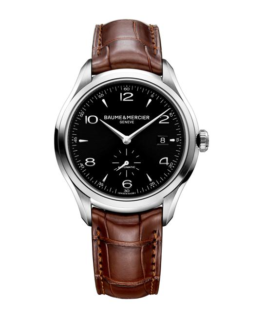 Baume & Mercier Clifton 10053 Black Brown Mens Watch 41
