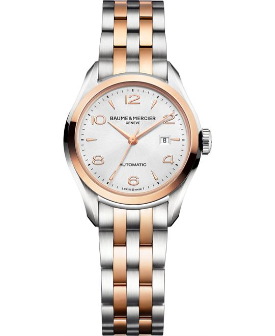 Baume & Mercier Clifton Two Tone Watch 30mm