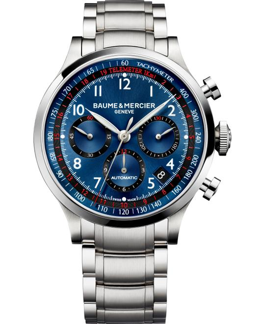Baume & Mercier Blue Chronograph Watch 44mm