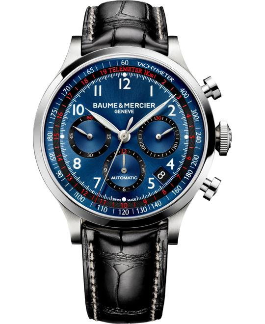 Baume and Mercier Blue-Chronograph-Mens Watch, 44mm