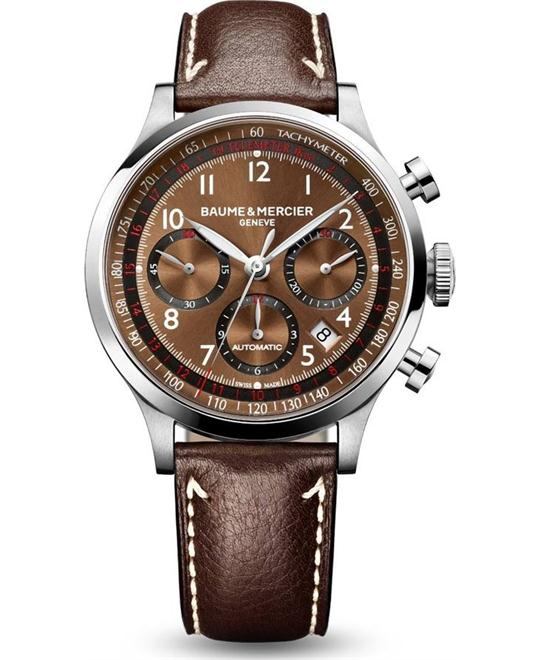 Baume and Mercier Capeland Chronograph Watch 42mm