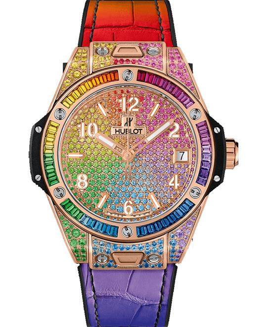 dong ho nu Hublot BIG BANG 465.OX.9910.LR.0999 ONE CLICK RAINBOW 39mm