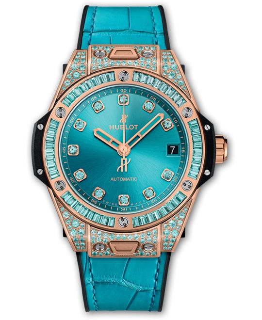 dong ho nu Hublot BIG BANG ONE CLICK KING GOLD PARAIBA 39mm