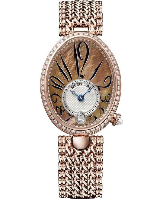 đồng hồ nữ oval sang trọng Breguet Reine de Naples 8918br/5t/j20.d000 28.45x36.5mm