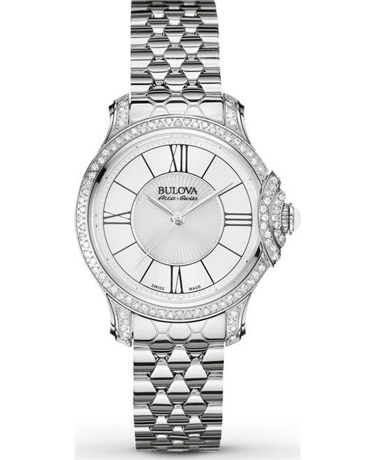 Bulova AccuSwiss Bellecombe Diamond Watch 31mm