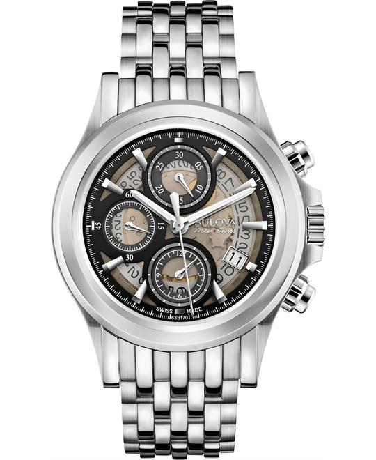 Bulova Accu Swiss Kirkwood Chronograph Watch 42mm