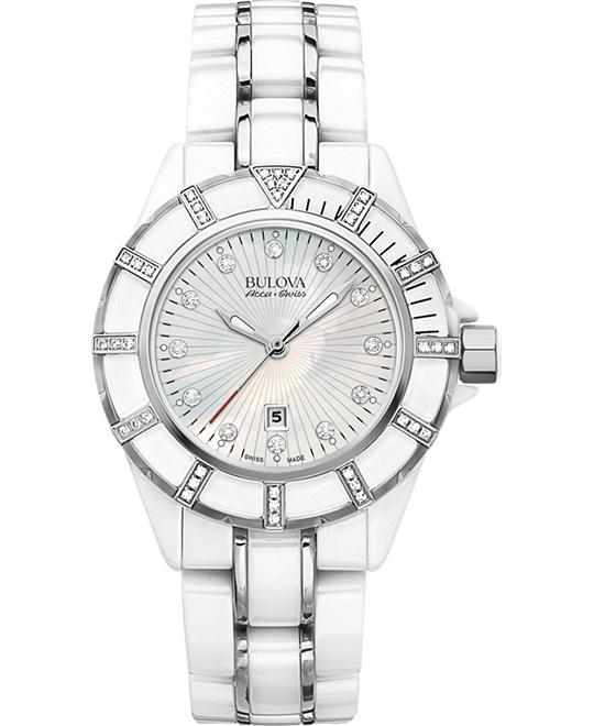 Bulova AccuSwiss Mirador Diamond Ceramic Watch 36mm