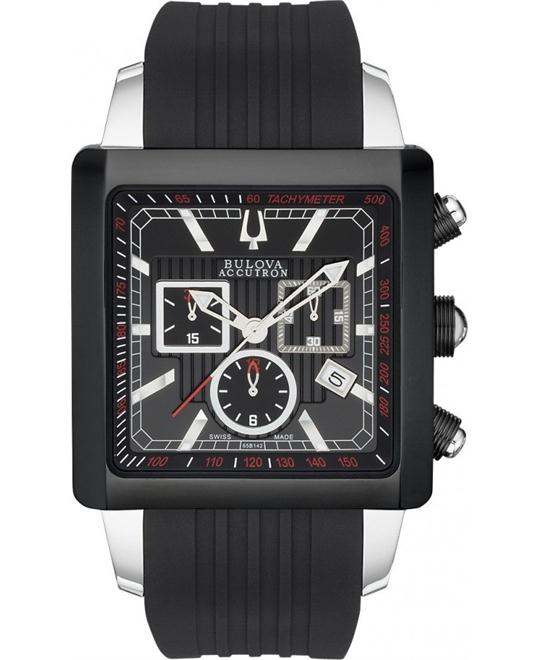 Bulova Accutron Masella Chronograph Black Watch 40mm