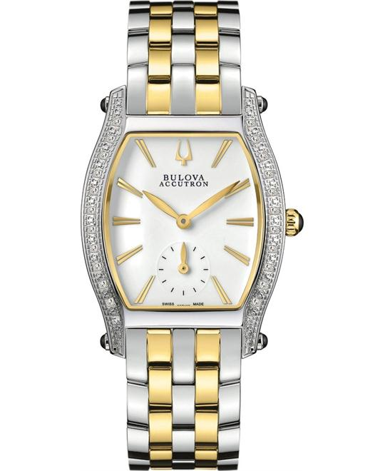 Bulova Accutron Saleya Diamonds Watch 28mm