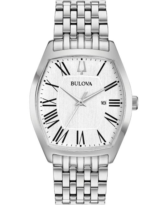 Bulova Ambassador Silver Watch 37mm