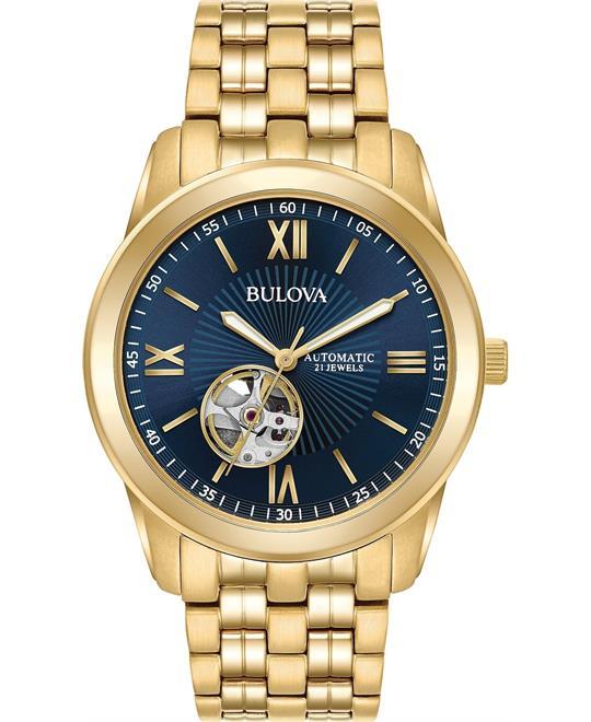 đồng hồ Bulova Open Heart Blue Watch 42mm