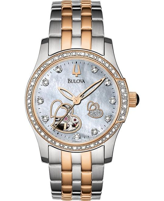 Bulova BVA-Series Diamond Automatic Watch 34mm