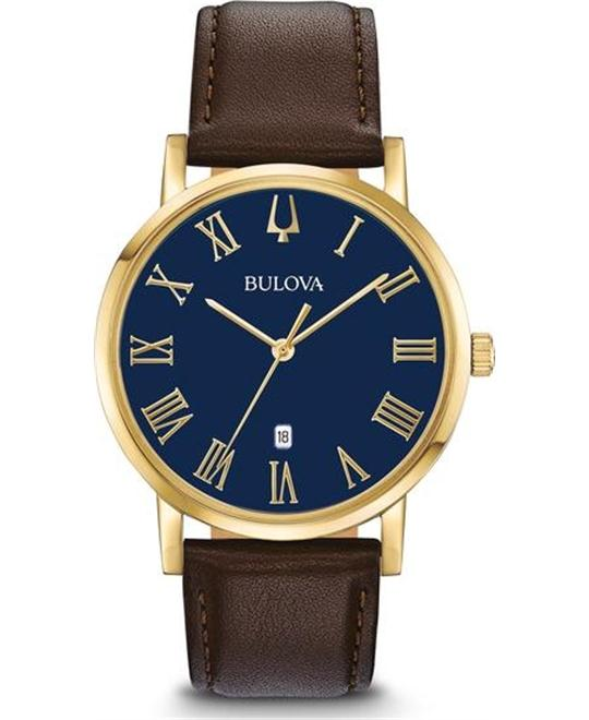 đồng hồ BULOVA Classic Dark Blue Dial Watch 40mm