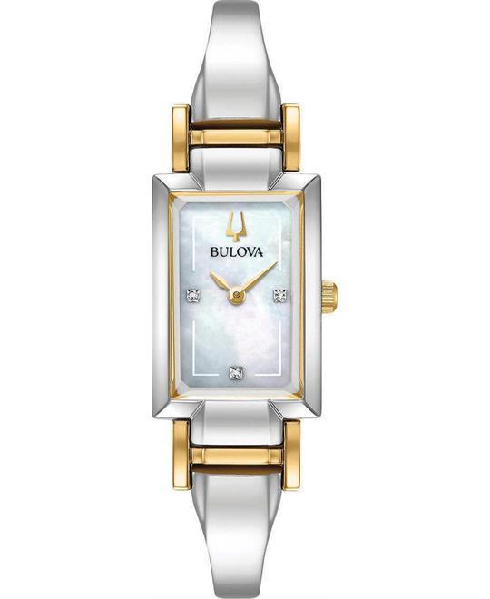 đồng hồ nữ Bulova Classic Diamond Accent 28x33mm
