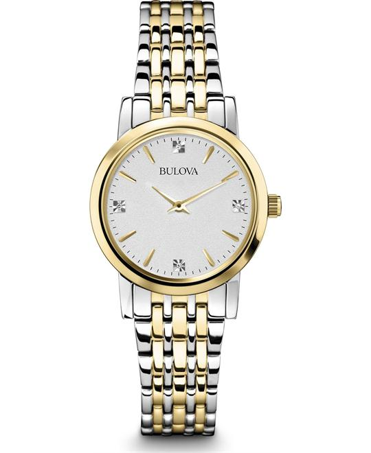 đồng hồ Bulova Classic Diamond Women's Watch 30mm