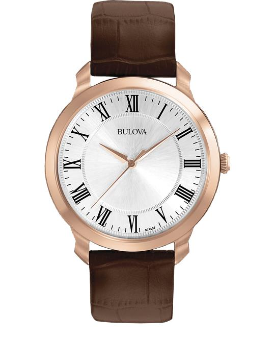 Bulova Classic Dress Brown Watch 42mm