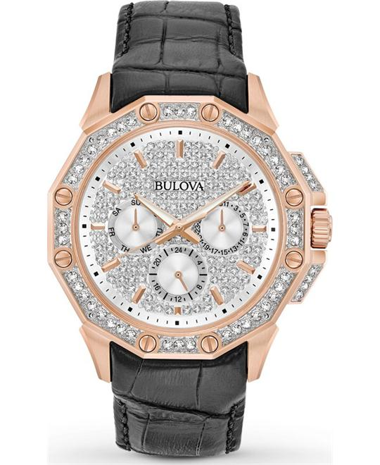 đồng hồ Bulova CRYSTAL Rose Gold-Tone Men's Watch 42mm