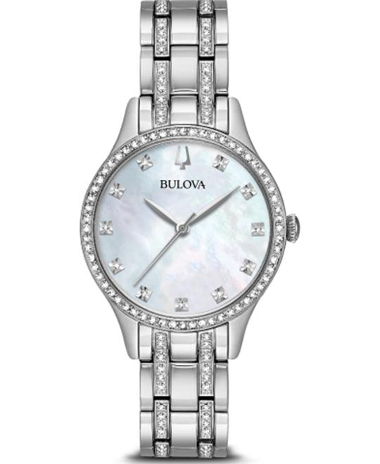 Bulova Crystal White Watch 32mm