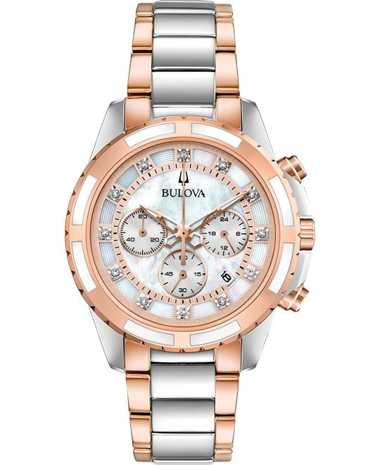 Bulova Diamond-Accent Watch 36mm