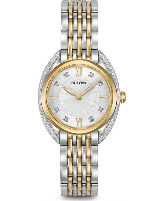 Bulova Curv Diamond Lady's Watch 30mm