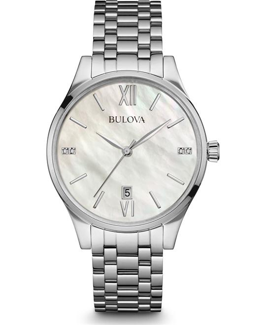 Bulova Diamond Mother Of Pearl Watch 36mm