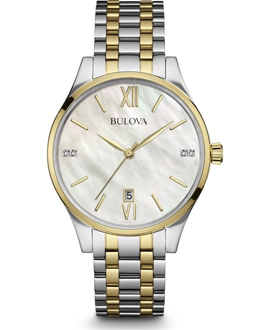Bulova Maiden Lane Womens Diamond Watch 36mm