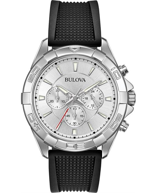 Bulova Dress Chronograph Rotating Watch 44mm