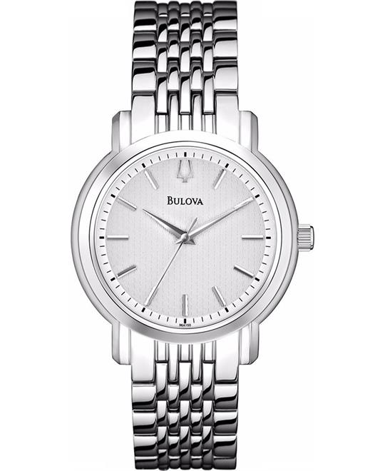 Bulova Dress Silver-Tone Quartz Watch 38mm