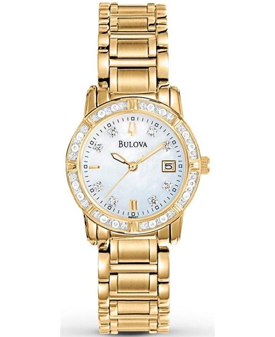 Bulova Highbridge Diamond Gold Watch 26mm