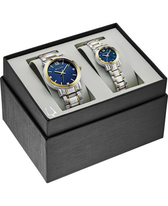 Bulova His and Hers Set Watch 40mm*26mm