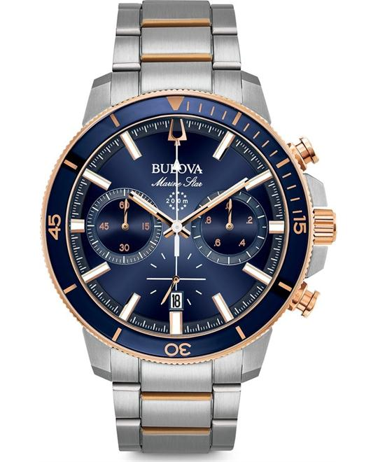 đồng hồ Bulova Marine Star Chronograph Watch 45mm