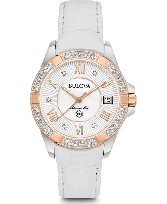 Bulova Marine Star Diamond Watch 32 mm