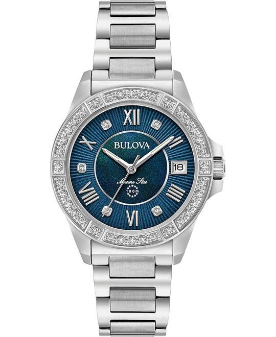 Bulova Marine Star Diamonds Watch 32mm