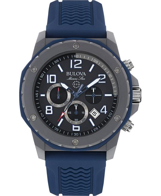 Bulova Marine Chronograph Silicone Watch 44mm