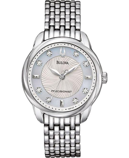 Bulova Precisionist Brightwater Mother of Pearl Watch 32mm