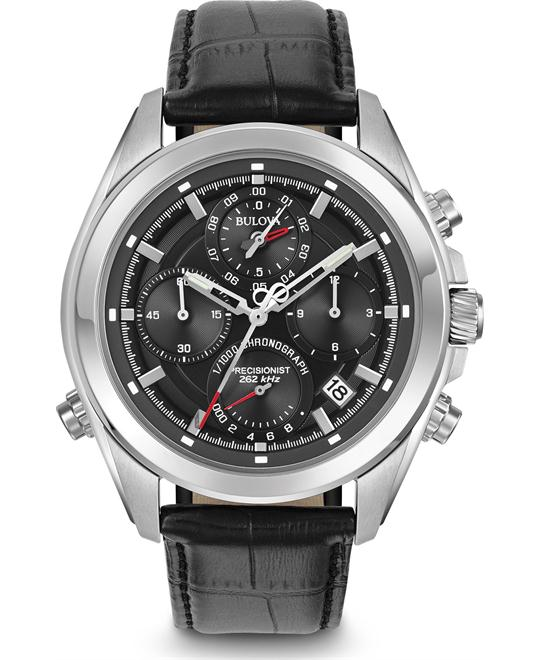 Bulova Precisionist Chronograph Watch 45mm