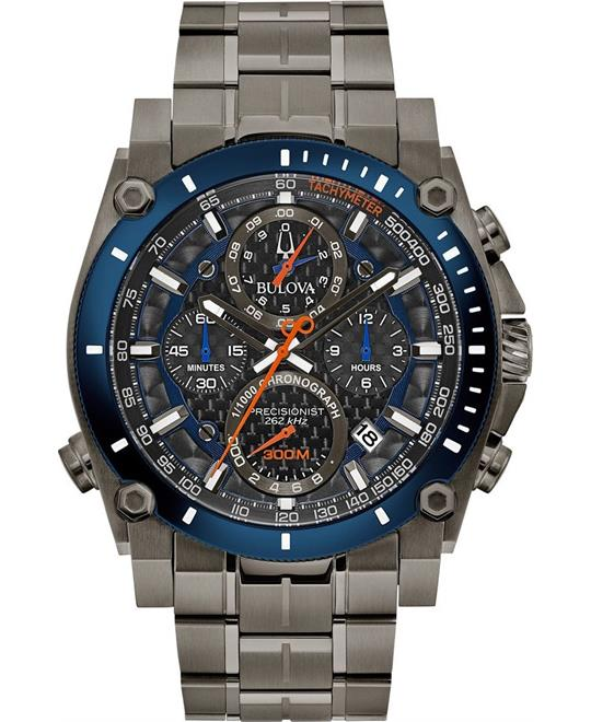 Bulova Precisionist Chronograph Watch 46.5mm