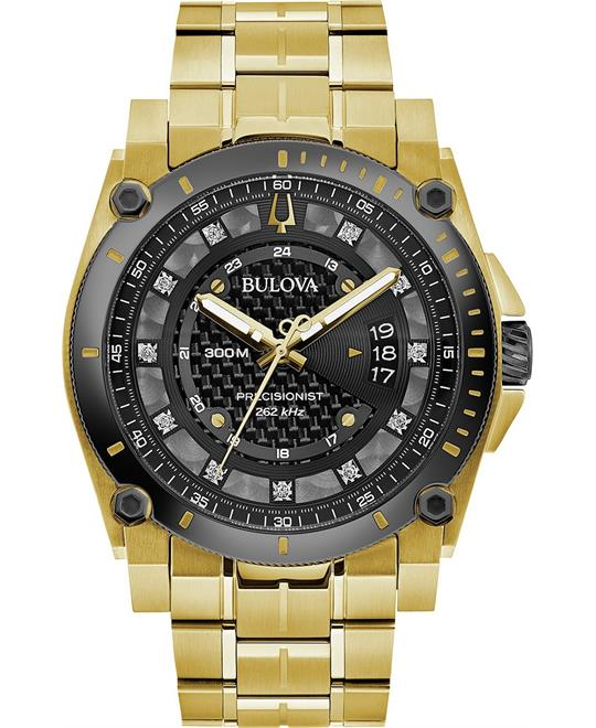 Bulova Precisionist Diamond-Accent Watch 46.5mm