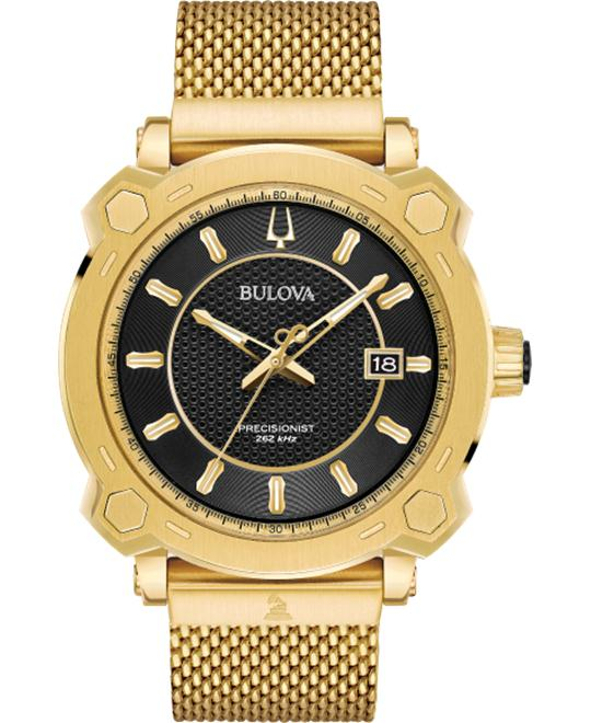Bulova Precisionist Gold Watch 44mm