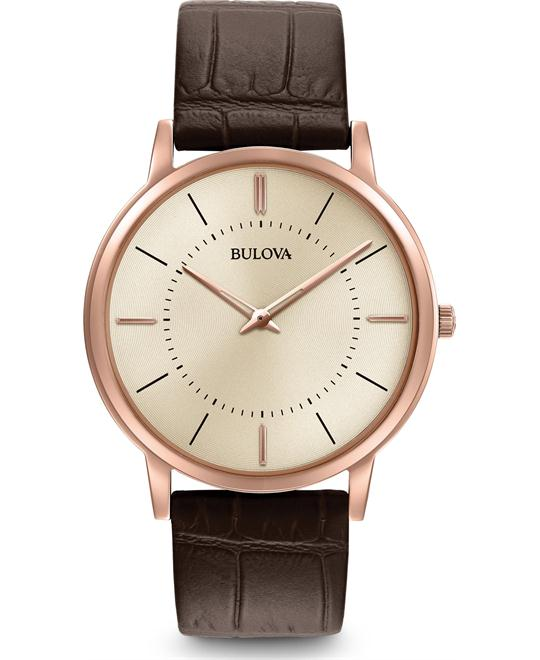 đồng hồ Bulova Classic Leather Watch 40mm
