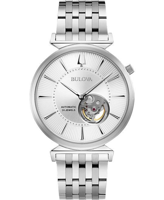đồng hồ nam Bulova Regatta Automatic Silver Watch 40mm