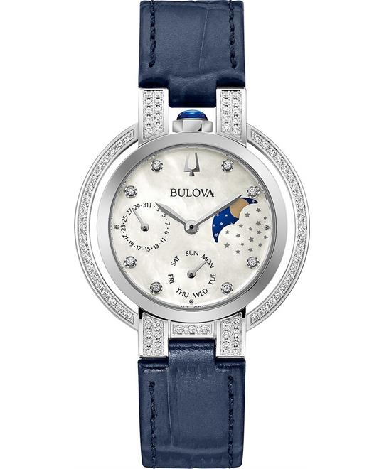 Bulova Rubaiyat Moonphase Blue Watch 35mm