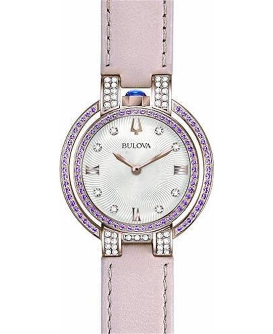 Bulova Rubaiyat Pink Sapphires watch 35mm
