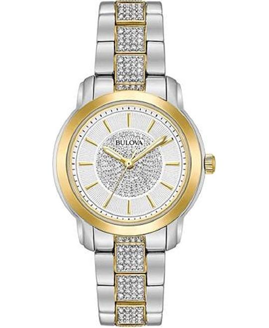 Bulova Swarovski Ladies Watch 34mm