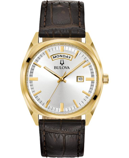 Bulova Surveyor Brown Watch 39mm