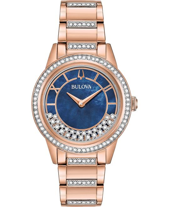 Bulova Turnstyle Swarovski Crystals Watch 33mm